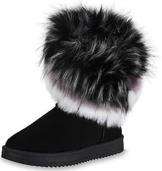 Scarpe Vita Women Boots Slip Bootees Warm Lined Synthetic Fur Tread Sole 171797 Black UK 4 EU 37