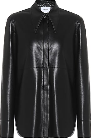 Nanushka Noelle faux-leather shirt