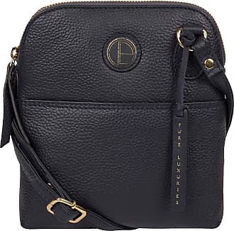 Pure Luxuries London Pure Luxuries London Orsola Womens 19cm Biodegradable Leather Cross Body Bag with Zip Over Top, Natural, Untreated 100% Cotton Lining and Adjustable L