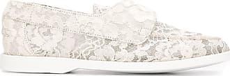 Le Silla Mocassim slip-on com bordado floral - Branco
