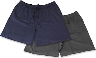 Espionage Mens Cotton Jersey Shorts Twin Pack-Blue-7XL