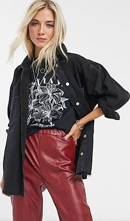 Topshop denim shirt in washed black