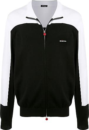 Kiton colour block zipped sweater - Black