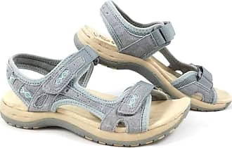 Earth Spirit Ladies Maryland Touch Fastening Shoes Silver//Grey And Blue