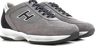 Sneakers Hogan uomo in pelle scamosciata grigio :