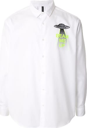 Blackbarrett Camisa de algodão com estampa gráfica - Branco