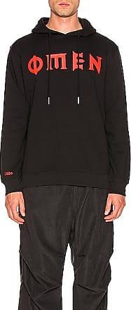 032c Logo Print Hoodie in Black