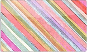 KESS InHouse Heidi JenningsPastel Stripes Pink Multicolor Artistic Aluminum Magnet, 2 by 3, Multicolor