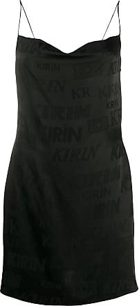 Kirin Slip dress com estampa de logo - Preto
