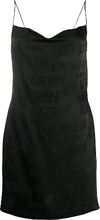 Kirin logo print mini dress - Black