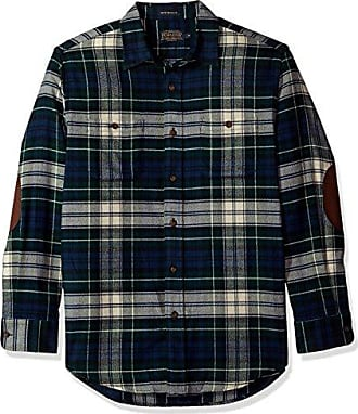 Pendleton Mens Long Sleeve Button Front Hawthorne Flannel Shirt, Dress Forbes-562206, SM