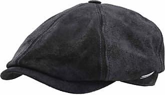 Stetson Flat Cap Leather Men Mccook Pigskin - Size XL - Noir-1 16a9c962a71a