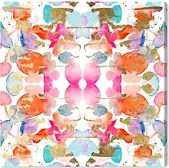 The Oliver Gal Artist Co. The Oliver Gal Artist Co. Abstract Wall Art Canvas Prints Gold and Colorful Confetti Home Décor, 43 x 43, Pink, Orange