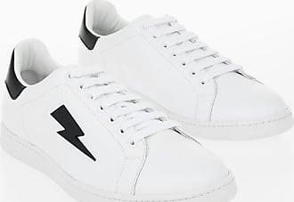 Neil Barrett Leather THUNDERBOLT TENNIS Sneakers size 41