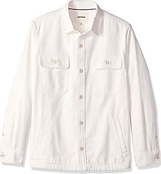 Goodthreads Mens Military Broken Twill Shirt Jacket, -ivory, X-Large Tall