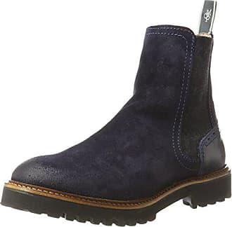 Marc O Polo Damen Flat Heel 70814235001312 Chelsea Boots, Blau (Navy), aff79765f9