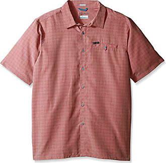 b196f76679d Columbia Mens Big-Tall Declination Trail II Short Sleeve Shirt, Sunset Red  Ombre 4X
