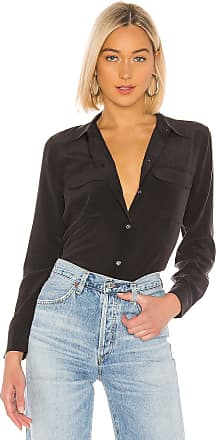 Equipment Slim Signature Blouse in Black