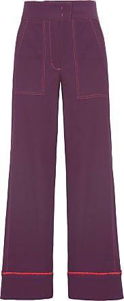Shoulder Calça Pantalona Pespontos Shoulder - Roxo