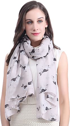 Lina & Lily German Shepherd Dog Print Large Scarf Lightweight (Beige)