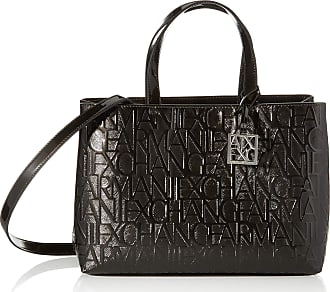 A X Armani Exchange Womens Liz-Medium Open Shopping Tote, 16 x 35 x 24 cm Black Size: x