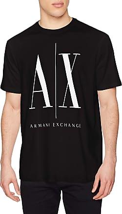 A X Armani Exchange Mens Logo Icon Tee T-Shirt, Black (Black 1200), XX-Large
