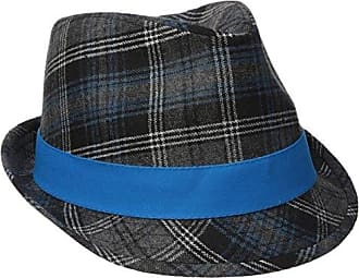 d31fff213125b Henschel Mens Wool Blend Plaid Fedora with Solid Band and Loop