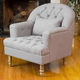 BEST SELLING HOME Dolores Tufted Arm Chair Gray - 295002