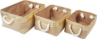 A & B Home Burlap Container - Set of 3 - 41171-GONA