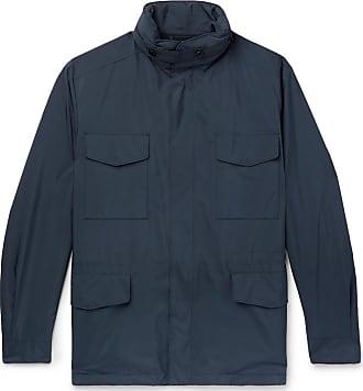 Loro Piana Traveller Windmate Storm System Shell Hooded Field Jacket - Blue