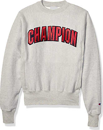 Champion LIFE Mens Reverse Weave Crew-Block Champion Arch Sweatshirt, Oxford Gray, Medium