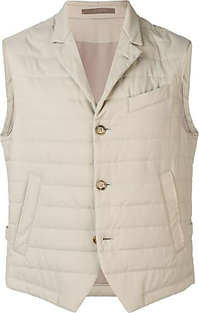 Eleventy padded fitted gilet - Neutrals