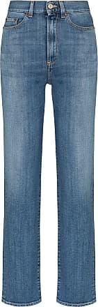 Jeanerica Calça jeans reta Super cintura alta - Azul