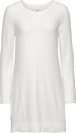 Bonprix Dam Stickad klänning i oversizemodell i vit lång ärm - RAINBOW 3659ee51a6f4b