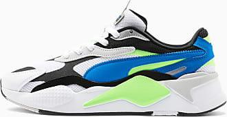 Puma Mens PUMA Rs-X3 Puzzle Soft Trainers, White/Electric Blue, size 10.5, Shoes