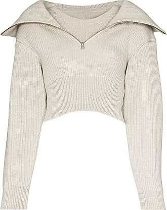 Jacquemus Risoul zip-up merino jumper - Cinza