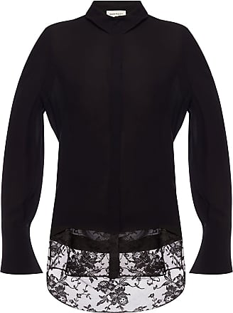 Alexander McQueen Lace Top Womens Black