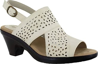 Easy Street Womens Charleigh Heeled Sandal, Ivory, 6.5 Narrow