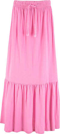 4a9dcfd6a384 Bonprix Dam Maxikjol med dragband i stark rosa - bpc collection