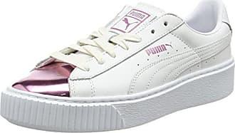 Silver|Grey – Puma Basket Platform Perforated Sneakers Womens Low Top Grey VioletPuma Silver