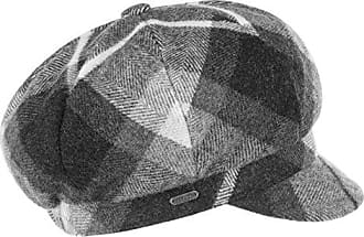 ce0e37028c650f Mcburn Tevere Karo Damen Newsboy Cap   Made in Italy Ballonkappe Damenmütze  Schildmütze mit Schirm,