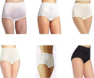 Vanity Fair Womens Perfectly Yours Ravissant Tailored Brief 15712, Star White/Soft Blue/Midnight Black/Fawn/Candleglow/Blushing Pink, 2X-Large/9