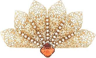 Kenneth Jay Lane Broche com aplicação com cristais - Dourado