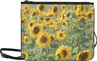 Yushg Unisex Crossbody Bag Sunflower Helianthus Annuus Composites Asteraceae Adjustable Shoulder Strap Sports Clutch Bag For Women Girls Ladies Cool Shoulde