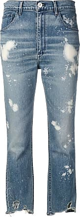 3x1 cropped distressed jeans - Blue