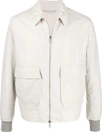 Eleventy front zip jacket - NEUTRALS