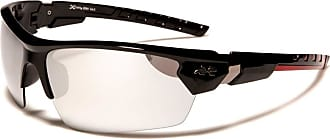 X Loop Mens XLOOP Comfort Fit Wrap Around Sports Sunglasses with Red Frames & Two Tone Reflective Lenses Full UV400
