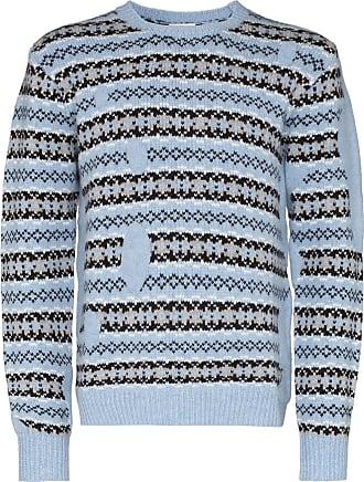 Lou Dalton Suéter Fair Isle com patchwork - Azul