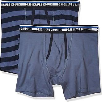 Original Penguin 2 Pack Black Purple Button Fly Earl Boxer Briefs Shorts L New