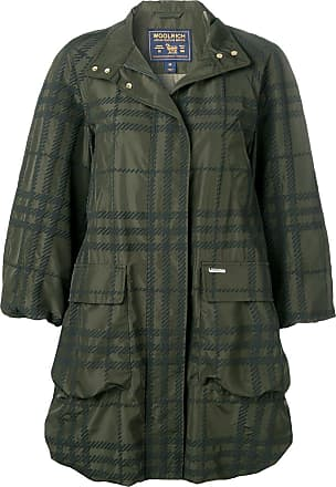 Woolrich plaid water-resistant coat - Green